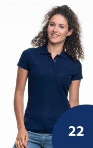 Polo Shirt Navy blau 22
